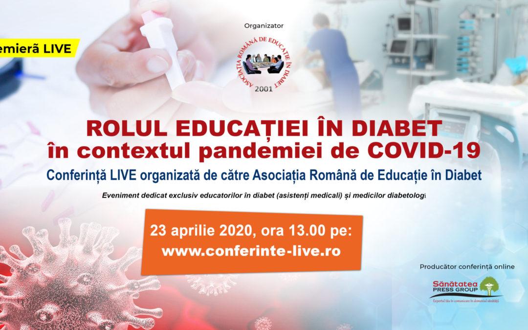 ROLUL EDUCAȚIEI ÎN DIABET în contextul pandemiei de COVID-19