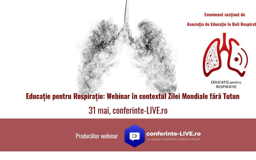 Educație pentru Respirație: Webinar în contextul Zilei Mondiale fără Tutun