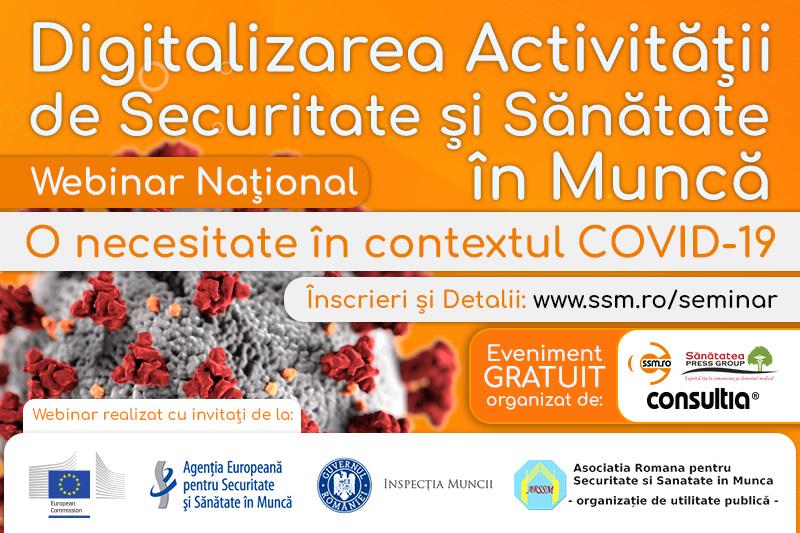 Digitalizarea activității de securitate și sănătate în muncă, o necesitate în contextul COVID-19