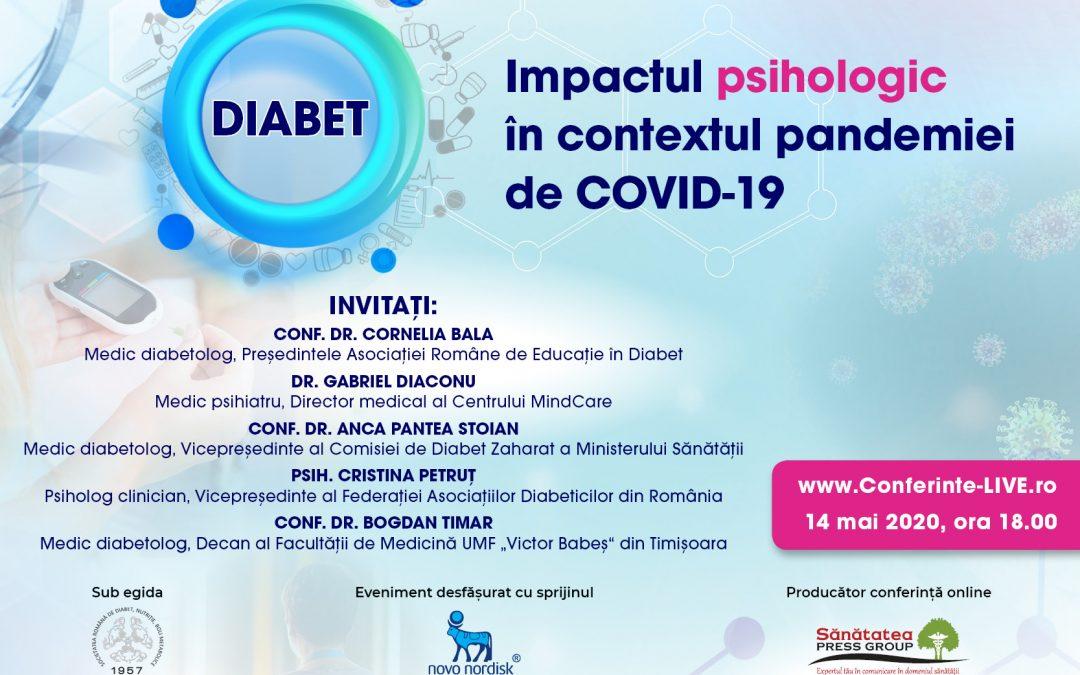 DIABET. Impactul psihologic în contextul pandemiei de COVID-19