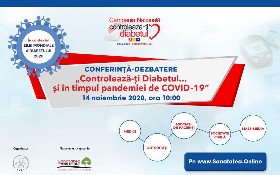 14.11.2020 | Controlează-ți Diabetul …și în timpul pandemiei de COVID-19