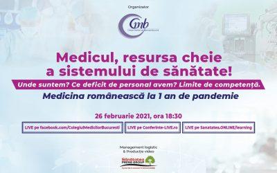 26.02.2021 | Medicul, resursa cheie a sistemului de sanatate