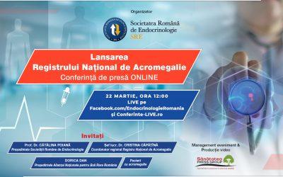 22.03.2021 | Conferință de presă SRE: Lansarea Registrului Național de Acromegalie