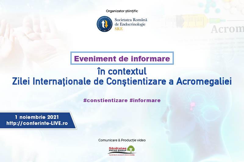01.11.2021   Eveniment de informare în contextul Zilei Internaționale de conștientizare a Acromegaliei