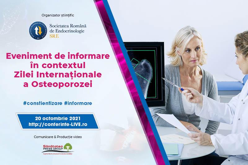 20.10.2021   Eveniment de informare în contextul Zilei Internaționale a Osteoporozei