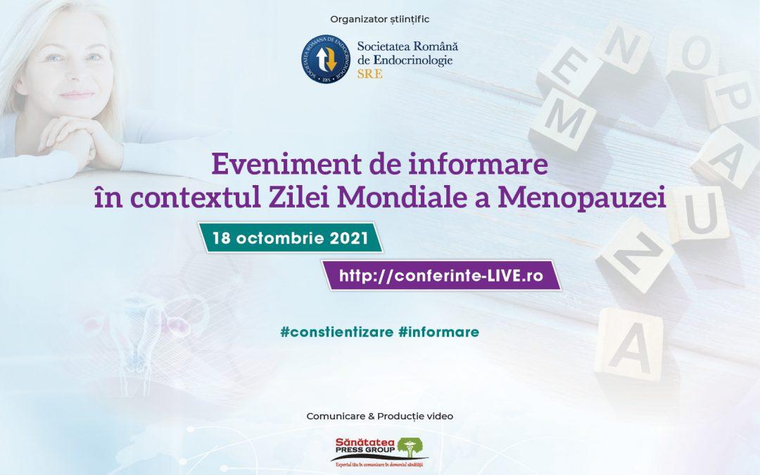 18.10.2021   Eveniment de informare în contextul Zilei Mondiale a Menopauzei